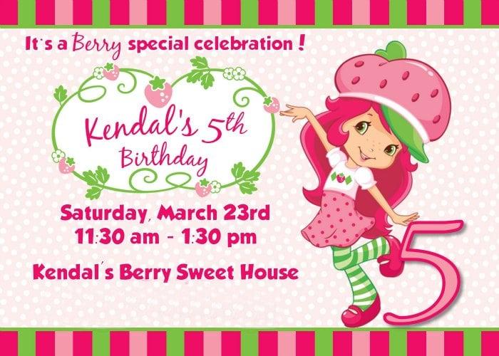 Strawberry Shortcake Birthday Party Deserts Printables Ideas – Strawberry Shortcake Birthday Card