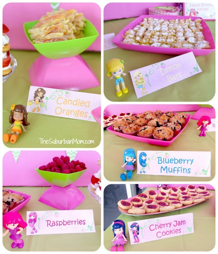 Strawberry Shortcake Birthday Party Deserts Printables