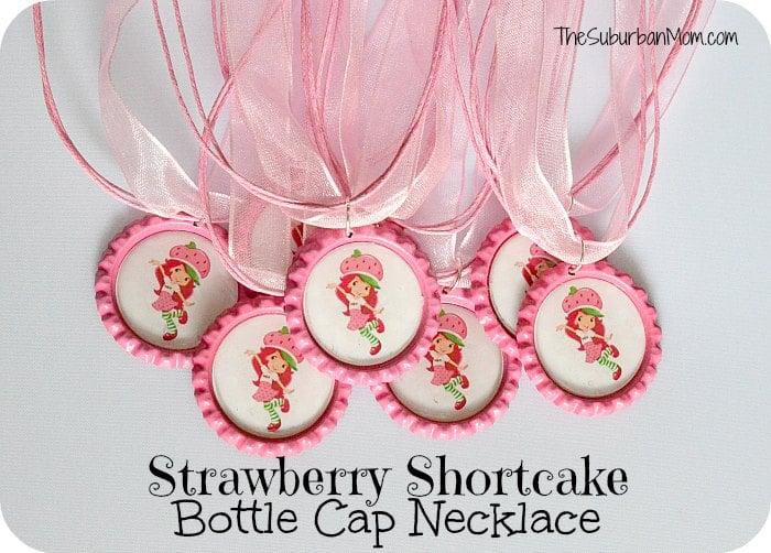 Strawberry shortcake birthday party deserts printables for Strawberry shortcake necklace jewelry