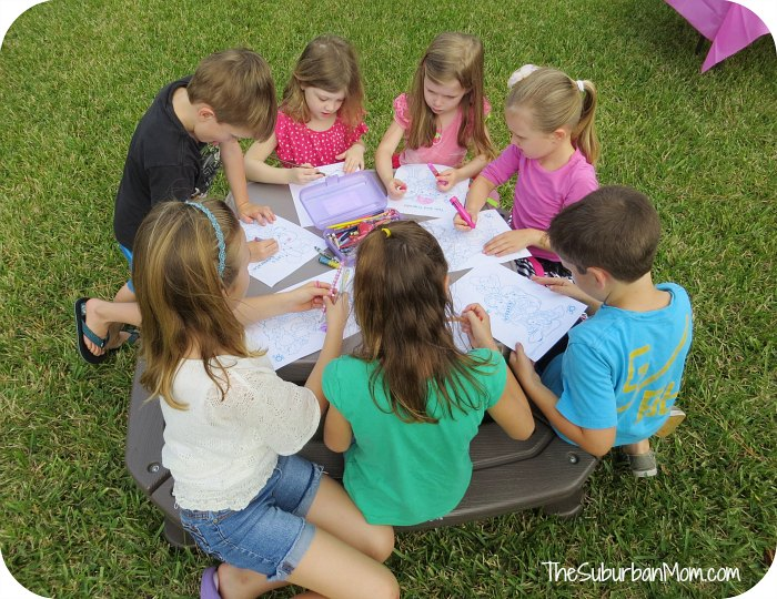Strawberry Shortcake Party Coloring Sheets