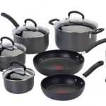 12-Piece Thermo-Spot Heat, Nonstick, Dishwasher-Safe Cookware Set