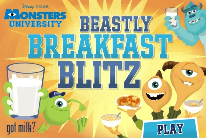 Disney Pixar Monsters U Beastly Breakfast Blitz