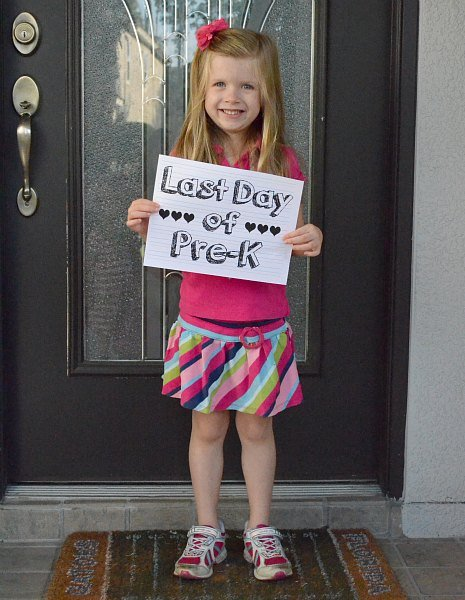 Last Day of Pre-K Sign