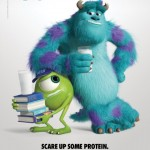 Monsters U Mike Sully Milk Mustache