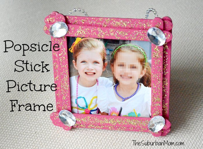 Popsicle Stick Picture Frame Kids Craft - The Suburban Mom