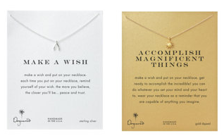 Dogeared make a wish necklaces