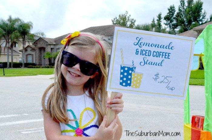 Lemonade Iced Coffee Stand Printable