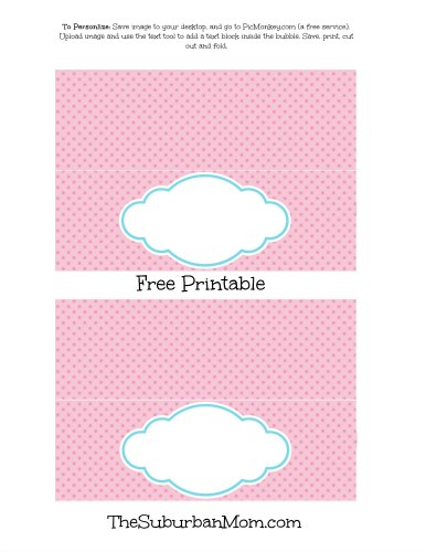 Pink Ice Cream Party Table Tent Label Free Printable