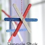 Popsicle Stick Fireworks 4th of July Kids Craft