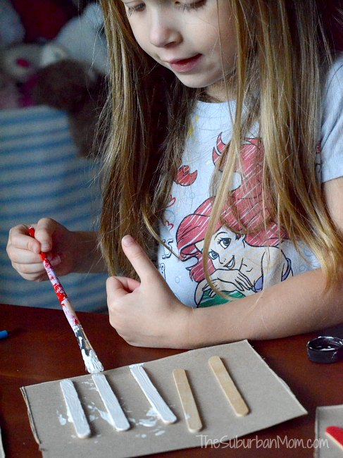 Popsicle Stick Fireworks Kids Craft