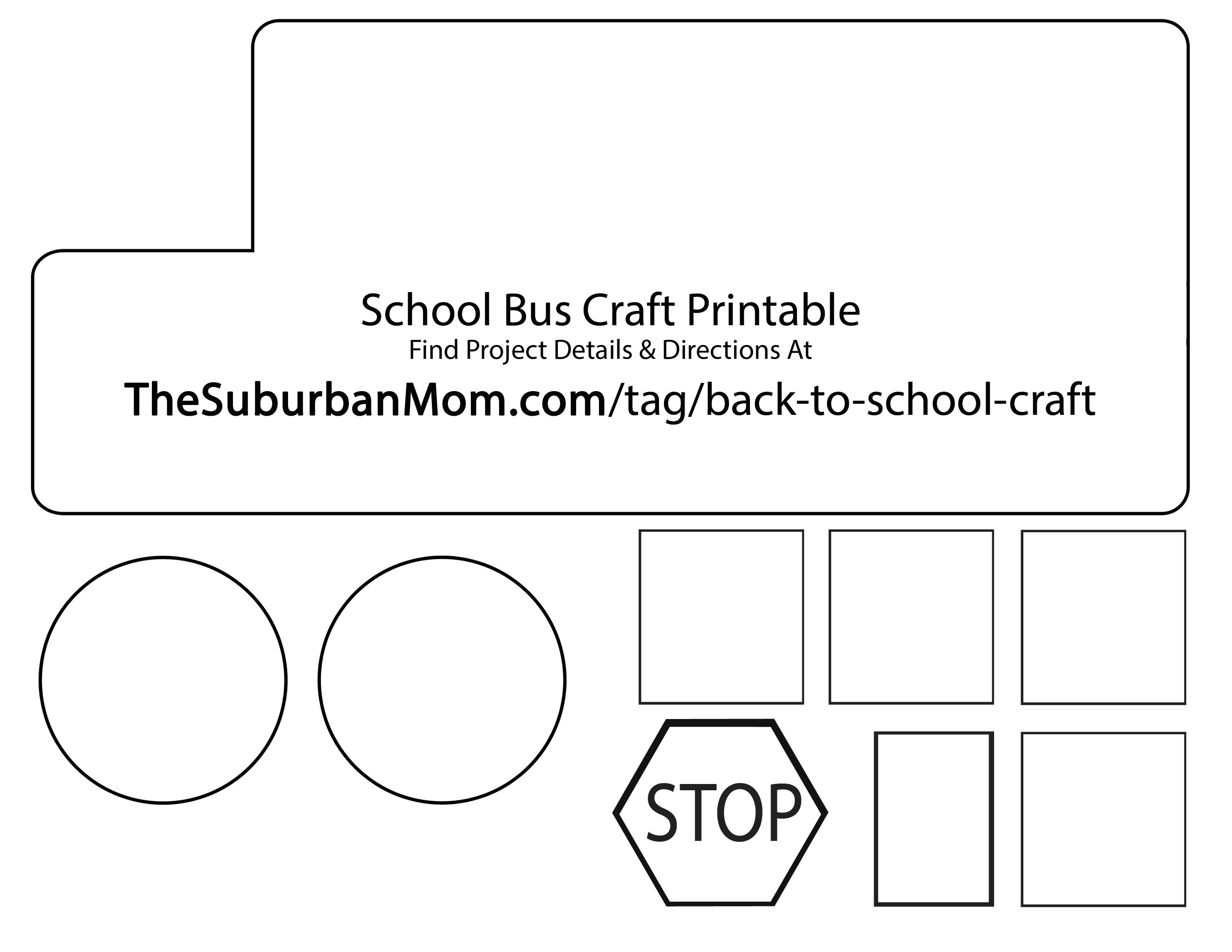 Back To School: School Bus Countdown Kids Craft - TheSuburbanMom