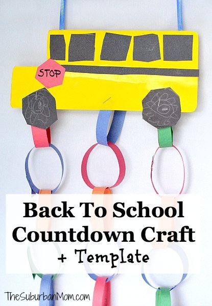 Back To School Countdown Kids Craft