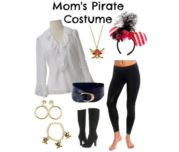 How to dress for pirate night on a disney cruise thesuburbanmom diy womens pirate costume disney cruise solutioingenieria Choice Image