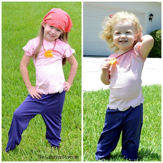 How to dress for pirate night on a disney cruise thesuburbanmom disney junior izzy pirate costume solutioingenieria Image collections