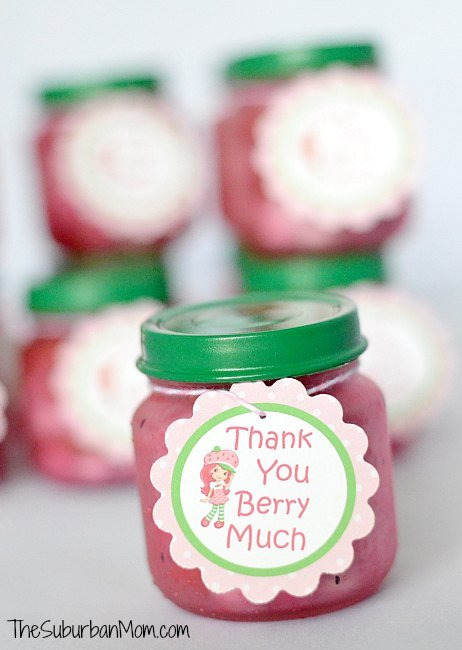 Strawberry Shortcake Party Favor