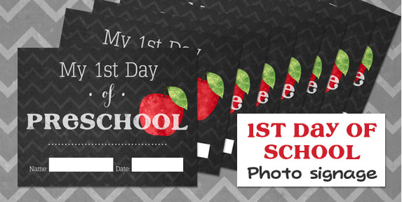 First Day of School Signs Free Printable 2