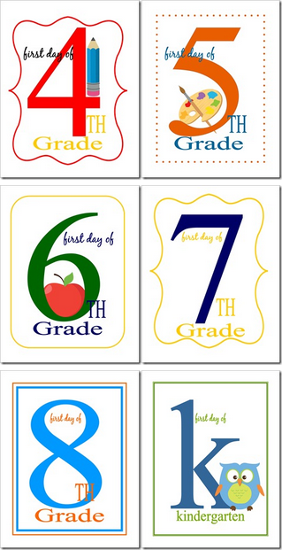 First Day of School Signs Free Printable 5