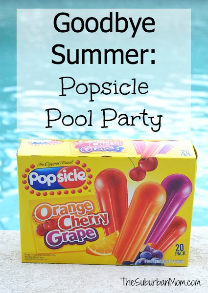 Goodbye Summer Popsicle Pool Party