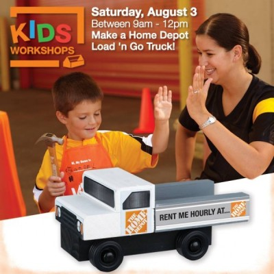 Free home depot kids workshop this weekend thesuburbanmom for Kids crafts at home depot