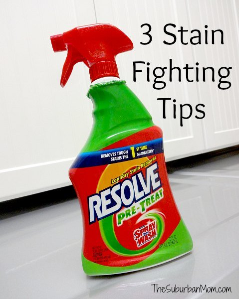 3 Stain Fighting Tips