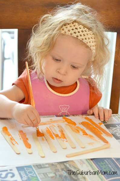 Painting Popsicle Sticks