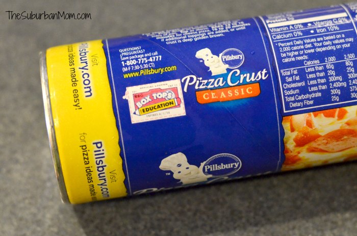 Pillsbury Pizza Crust Box Tops For Education
