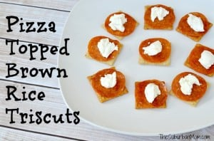 Pizza Topped Brown Rice Triscuits