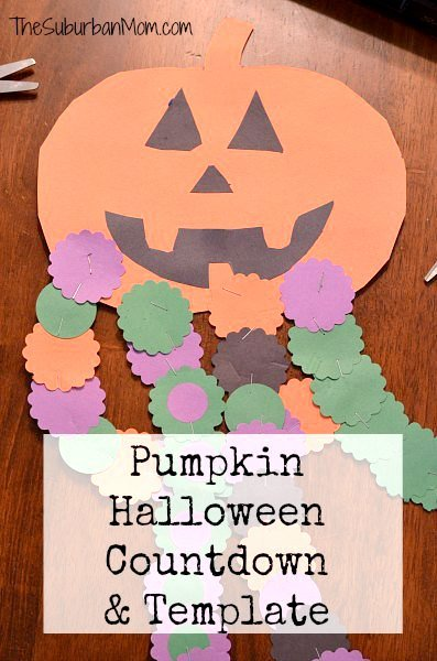 Pumpkin Halloween Countdown Template Craft