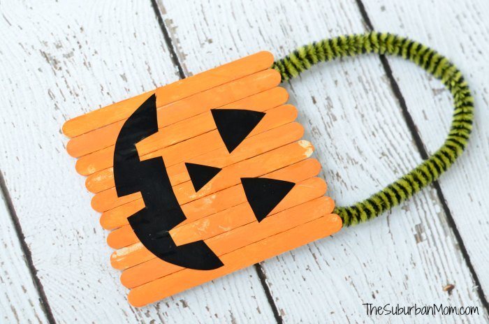 Halloween Popsicle Stick Pumpkin Craft