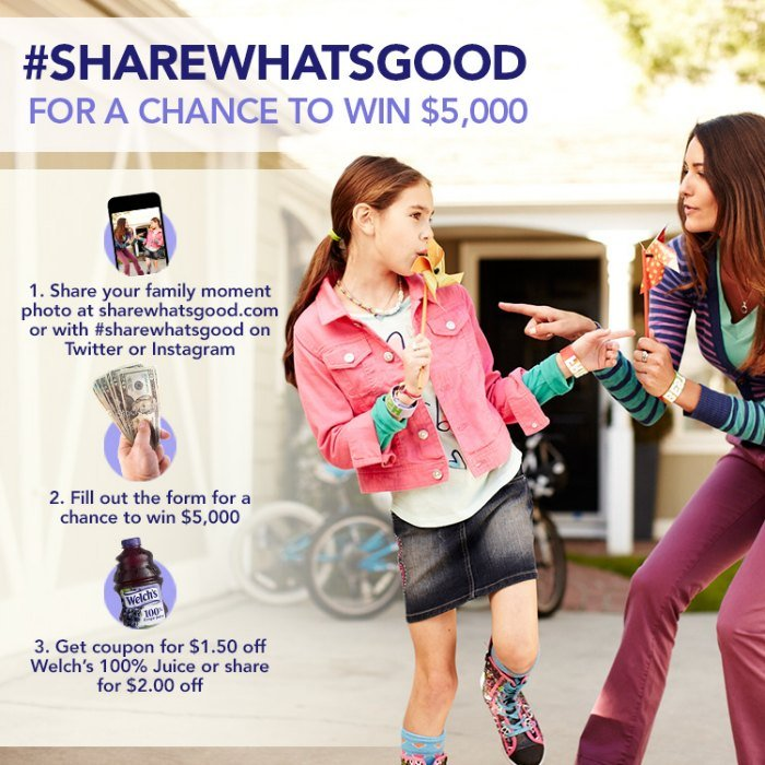 Share What's Good Contest Welch's