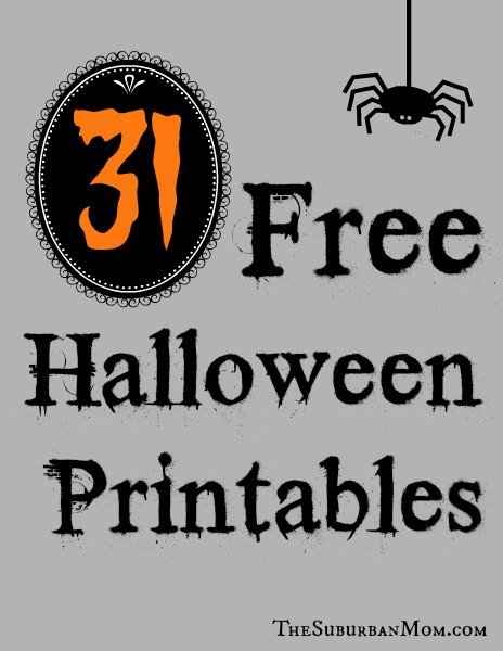 31 Free Halloween Printables - TheSuburbanMom