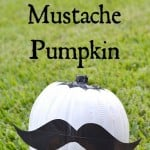 No-Carve Duck Tape Mustache Pumpkin Tutorial #StickorTreat