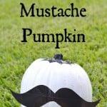 No-Carve Duck Tape Mustache Pumpkin Tutorial