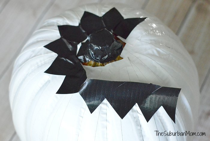 Duck Tape No Carve Pumpkin