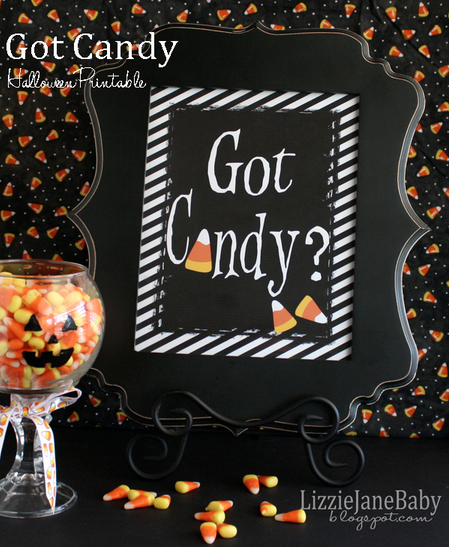 Halloween Candy Printable