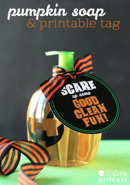 Halloween Soap Printable Gift