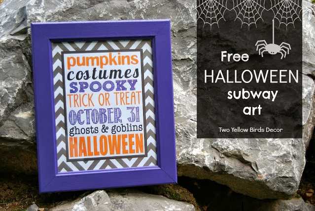 Halloween Subway Art Printable Purple