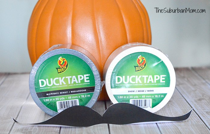 No Carve Duck Tape Pumpkin