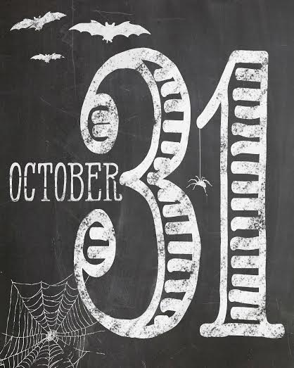 October 31 Halloween Printable