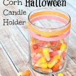 Starburst Candy Corn Halloween Candle Holder