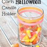 Starburst Candy Corn Halloween Candle Holder