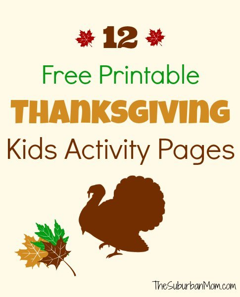 12 Free Printable Thanksgiving Kids Activity Placemats And Pages ...