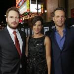 Chris Pratt Cobie Smulders Vince Vaughn Delivery Man Premiere
