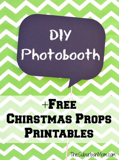 diy photobooth and free printable christmas props thesuburbanmom