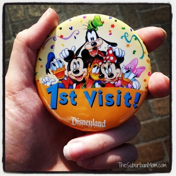 First Visit Disneyland Button