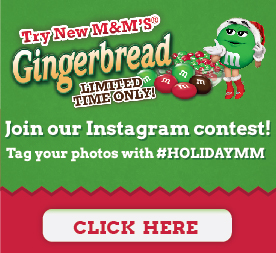 Gingerbread M&Ms Instagran Contest