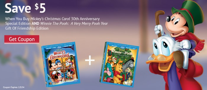 Mickey's Christmas Carol Winnie the Pooh Coupon Christmas