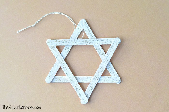 Popsicle Stick Christmas Ornament Star of David