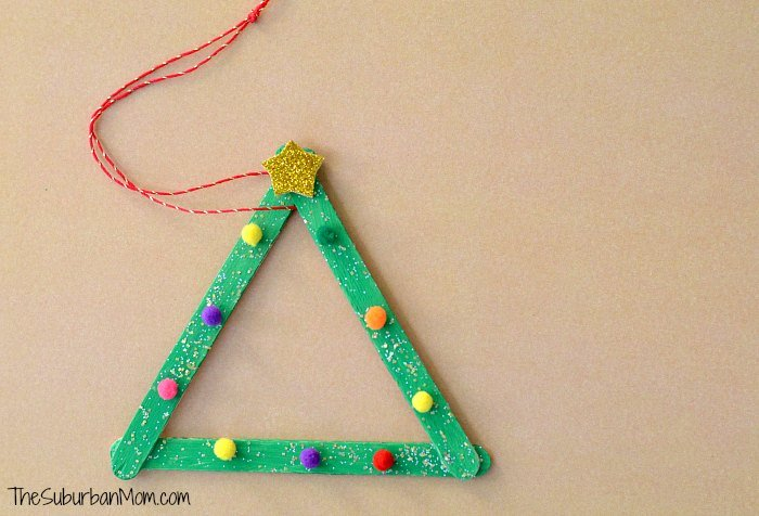 3 Popsicle Stick Christmas Ornaments - Kids Craft - TheSuburbanMom