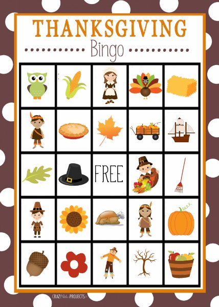 12 Free Printable Thanksgiving